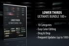 AE模板:100种震撼大气电影级碎片水墨点线光效栏目包装字幕条