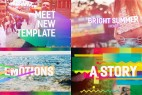 AE模板:绚彩活力夏日个性宣传展示效果 Bright Summer Opener