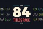 AE模板:84个文字标题动画效果 84 Titles Pack
