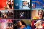 AE模板:百叶窗图像分割切换视图展示动画 Colors Of Life - Slideshow