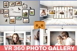 AE模板:创意 VR 360° 裸眼全景图片照片展示效果 VR 360 Photo Gallery