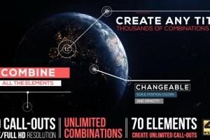 AE模板:呼出线条文字注释解说动画 Call-Outs Tool Kit
