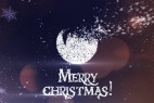 AE模板:圣诞节雪花粒子汇聚LOGO文字飘散动画 Christmas