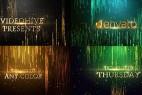 AE模板-金色3D文字粒子线条大屏幕背景颁奖晚会包装片头开场 Elegant Awards Titles 免费下载