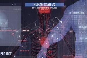 AE模板:科技感三维人体扫描展示动画 Human Scan V2