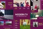 AE模板:现在电视广播电视节目预告展示完整栏目包装 Modern TV - Full Broadcast Pack