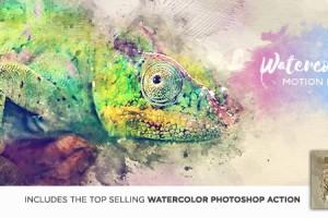AE脚本:水墨油彩掉落晕开显示动画生成器 Watercolor Motion Kit + 使用教程