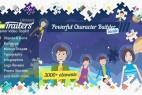 AE模板-MG动画卡通男女儿童角色人物场景扁平化元素必备工具包 AinTrailers - Ultimate Explainer Video Toolkit