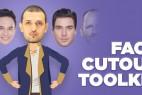 AE脚本:卡通大头娃娃人物角色绑定场景解说动画 Face Cutout Toolkit