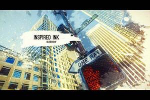 AE模板:创意中国风水墨晕开遮罩图像文字展示 Inspired Ink Slideshow