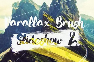 AE模板:水墨画笔遮罩幻灯片文字标题动画展示 Parallax Brush 2