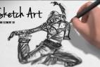 AE模板:铅笔手绘草图素描艺术效果 Pencil Sketch Art
