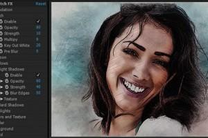 AE模板:快速将画面转换成素描草绘铅笔画效果 Sketch FX