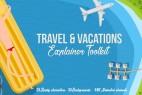 AE模板-假期旅游度假MG动画卡通人物场景元素包 免费下载 Travel & Vacations Explainer Toolkit