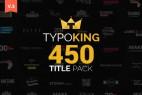 AE脚本+模板:450种精品个性文字标题排版动画 TypoKing Kinetic Typography Text