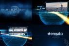 AE模板:发光粒子轨迹公司企业发展历程图文动画介绍展示