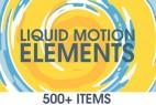 AE模版:500组MG卡通液体风格动态图形元素包 + 视频素材(完整版)