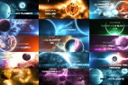 AE模板-宇宙银河太阳系三维地球星球8K动画 Solar System 2 ( Fantasy Planets ) 8K