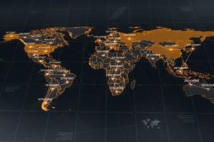 AE模板:科技感世界地图点线链接动画展示 World Map
