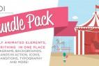 AE模板-创意MG动画场景图形图标转场元素包 World Of Inspiration Bundle Pack