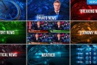 突发新闻经济频道电视栏目包装工程AE模板天气片头字幕条  Broadcast Design News Package