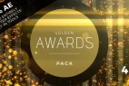 AE模板:高端华丽金色粒子颁奖典礼栏目包装 Golden Awards Event Pack