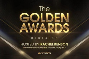AE模板:金色粒子颁奖典礼片头包装 Golden Awards Opener Redesign