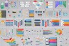 AE模板:40组公司企业商务信息数据图表展示介绍动画 + 模板字体 修改教程