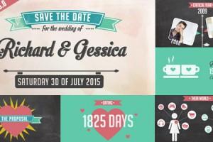 AE模板:甜蜜爱情历程展示婚礼请柬包装 The Story of Us - Wedding Invitation