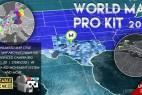 AE模板+脚本:超酷三维世界地图城市辐射定点连线效果World Map Pro Kit 2017
