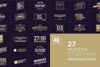 AE模板:27种4K文字标题动画 Titles Pack