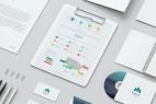 AE模板-干净优雅平面公司企业商务VI包装视觉动画 Mock-up Video Presentation