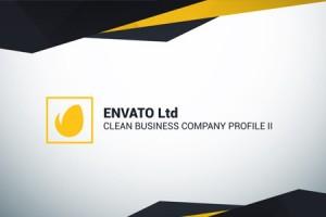 AE模板:现代简介公司企业商务推广介绍栏目包装 Clean Business Company Profile II