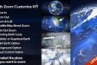 AE模板:地球缩放俯冲位置定点展示工具包 Earth Zoom Customize Kit 4