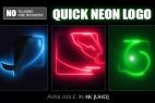 AE模板:能量电流描边LOGO霓虹标志片头 Quick Neon Logo