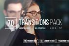 AE模板:70种转场效果+12种文字标题字幕条动画 Transitions