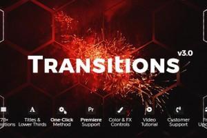 AE模板:多种风格转场效果包 Transitions