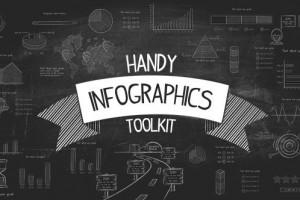 AE模板-创意铅笔粉笔手绘线条信息图表数据展示动画 Handy- Infographics Toolkit