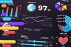 AE模板-时尚企业信息数据图表动画 Infographics