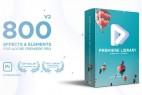 Premiere预设-800组扭曲调色信号损坏镜像RGB色彩分离PR视频特效Premiere Library - Most Handy Effects