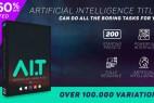 AE脚本-人工智能响应式文字排版设计图文字幕条动画+6个官网视频教程Artificial Intelligence Titles