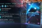 AE模板+脚本:100种多边图形拼接马赛克转场效果包 Mosaic Transitions Kit