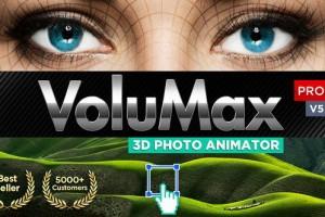 AE模板-风景人像照片转3D效果摄像机推拉旋转景深动画 VoluMax Pro (更新到V5.2)
