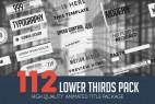 AE模板:112标题字幕条动画 Lower Thirds Pack