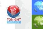 AE模板:电视新闻栏目包装动画 Tonight World News