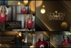 AE模板:金色年会活动晚会颁奖典礼栏目包装片头 Golden Sparks