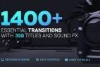 AE模板-1400组摄像机移动图形切割扭曲信号损坏笔刷水墨视频转场