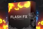 AE模板-214个卡通动漫能量电流火焰烟雾闪光MG动画+视频素材