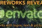 AE模板-烟花汇聚文字Logo图片动画工具包 Fireworks Reveal