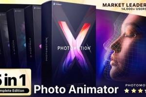 AE模板-动感影像人物风景图片转三维摄像机运动视差3D动画+视频教程 Photomotion X(更新到10.3.2版本) 免费下载